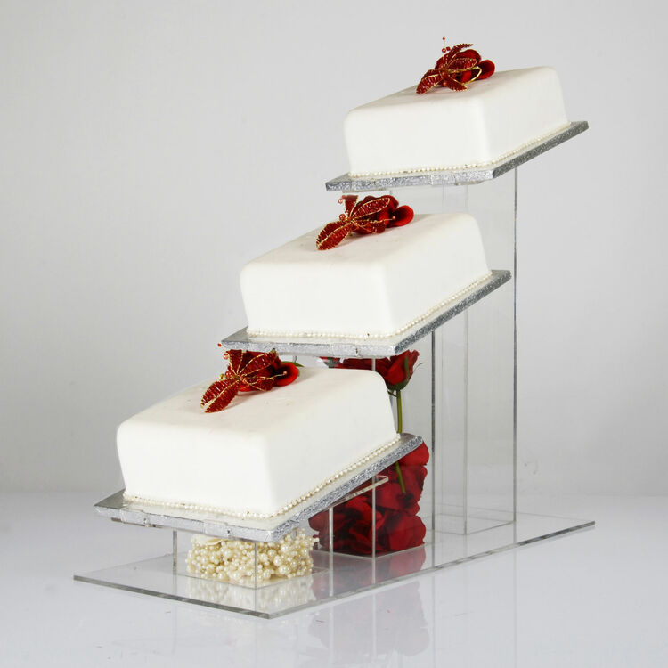 Square Angled Cake Stand