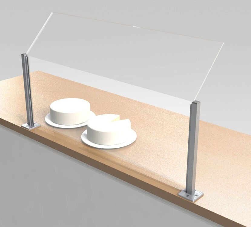 Sneeze guard euro curved glass sneeze guards bs1 ht4 il buffet steam table with - Sneeze guard for steam table ...