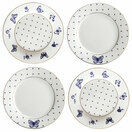 Bombay Duck Miss Peacock Cake Plates (Set Of 4) additional 1
