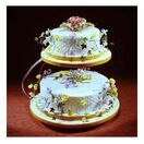 Cake Stand - C Shape Chrome Plated 2 Tier additional 2
