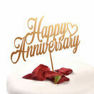 Acrylic Cake Topper Happy Anniversary additional 3