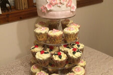 4 Tier Clear Acrylic Cupcake Stand - Round