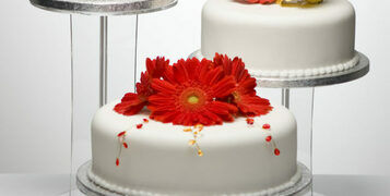 What size cake stand do I need for my wedding cake?