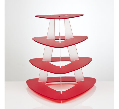 4 Tier Triangular Cupcake Stand