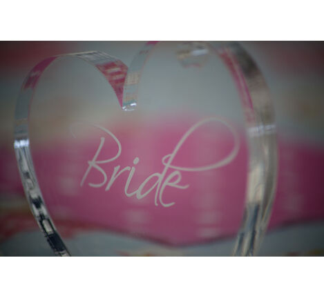 Bride Heart Balloon Weight