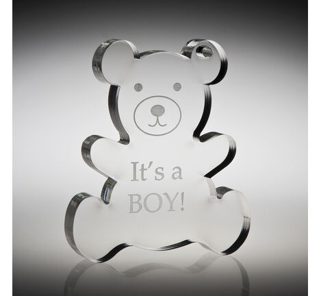 It's a Boy Teddy Balloon Weight
