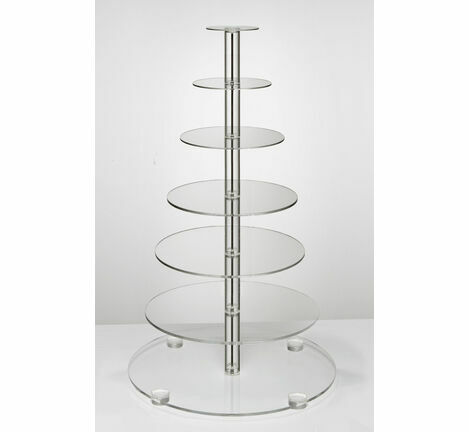 Flat-Packable 7 Tier Cupcake Stand
