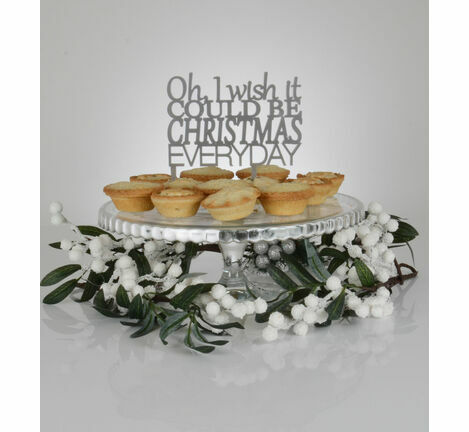 'I Wish It Could Be Christmas' Cake Topper