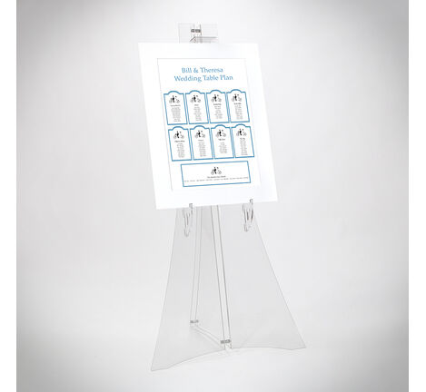 Wedding Table Plan Display Easel