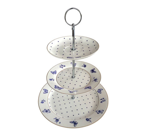 Bombay Duck Miss Peacock 3 Tier Cake Stand