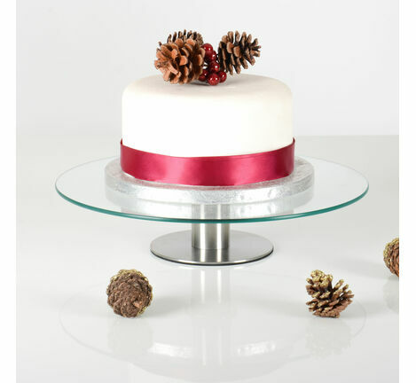 Glass Plate Rotating Cake Stand