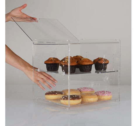 Stackable Acrylic Bakery Food Counter Display Case