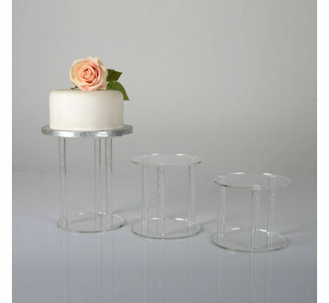 Air Bubble Pillar Rod Acrylic Cake Separator