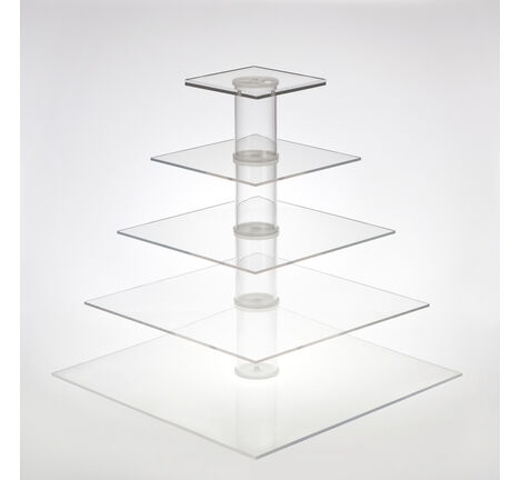 Adjustable 2/3/4/5 Tier Modular Square Cupcake Stand