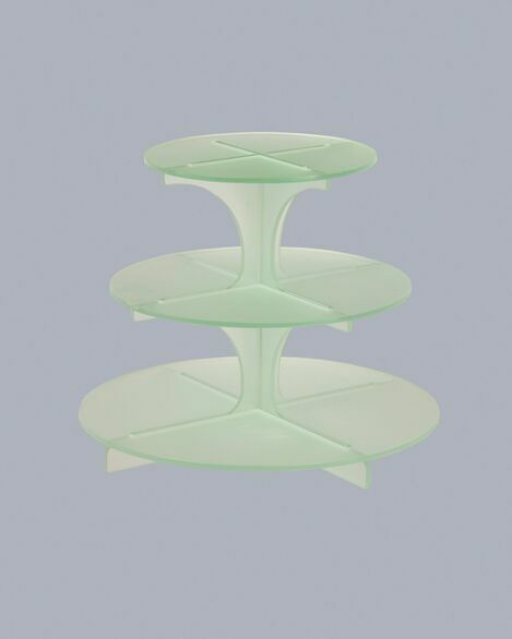 3 Tier Frosted Cupcake Stand - Green