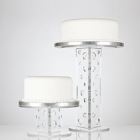 Olivia Round Single Tier Cake Stand - Various Heights
