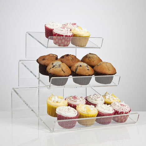 Angled Tiered Cake Display Stand