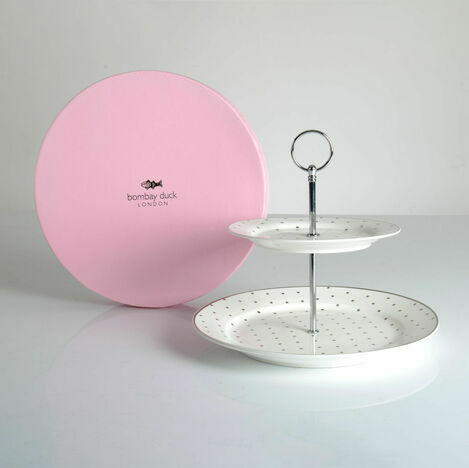 Bombay Duck Miss Darcy 2 Tier Cake Stand