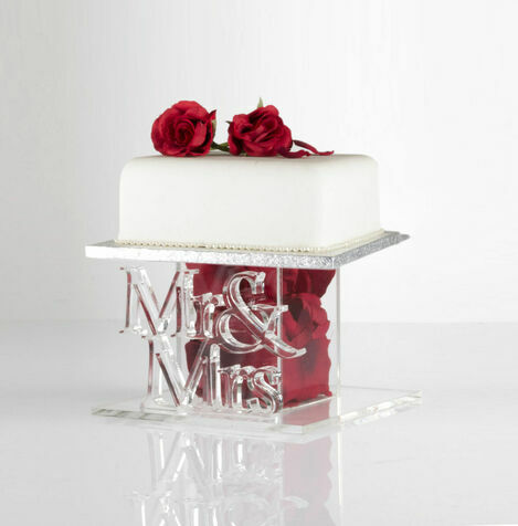 Mr & Mrs Celebration Cake Stand