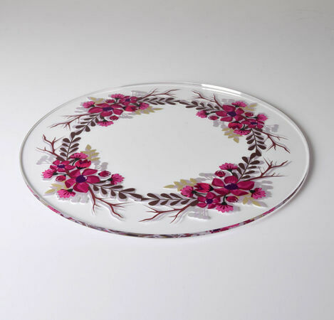 Garland Red Design Acrylic Cake Plate