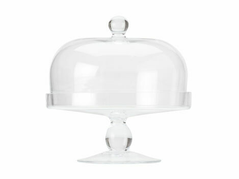 Maxwell Williams Diamante Glass Cake Stand with Dome