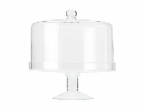 Maxwell Williams Diamante Glass Cake Stand with Straight Dome