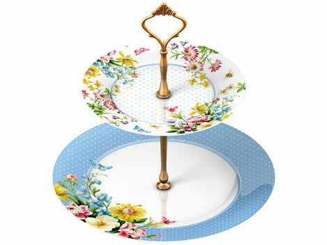 Katie Alice English Garden 2 Tier Cake Stand