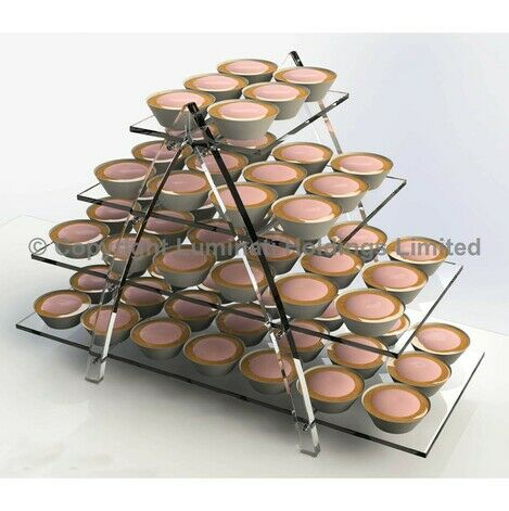 4 Tier Stepped Cupcake Display Stand