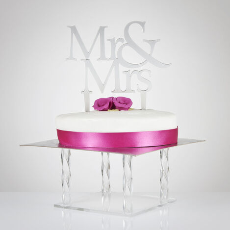 Mr & Mrs Wedding Cake Topper