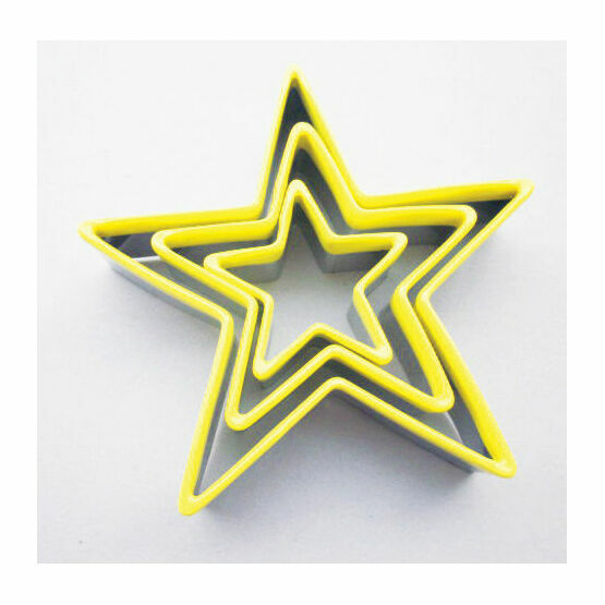 Cookie Cutters Coloured Stars (3)