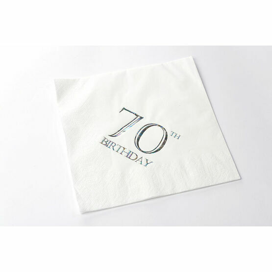 Napkins Rainbow Style- 70th Birthday