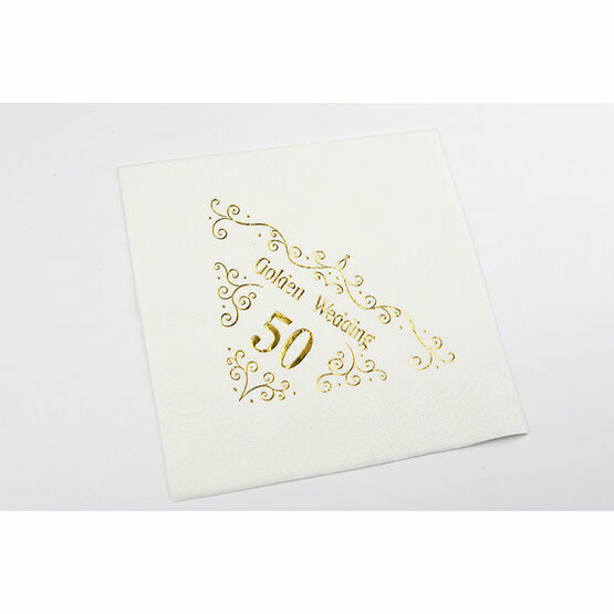 Napkins - 50th Golden Wedding Anniversary