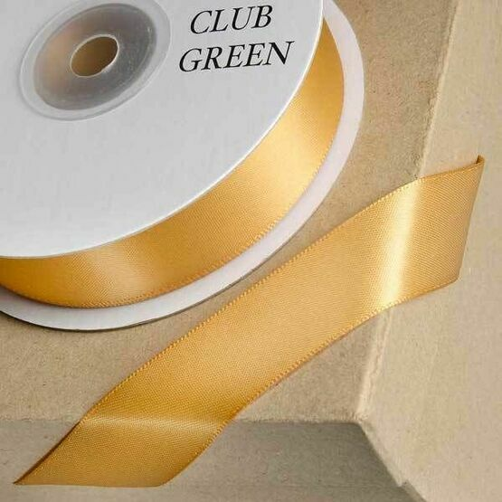 Club Green Satin Ribbon Gold