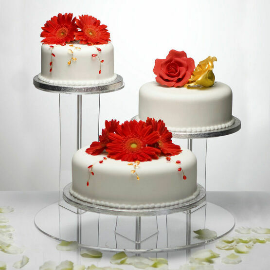 The Mushroom Clear Acrylic 3 Tier Cake Display Stand