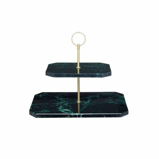 Artesa Two Tier Marble Serving Stand
