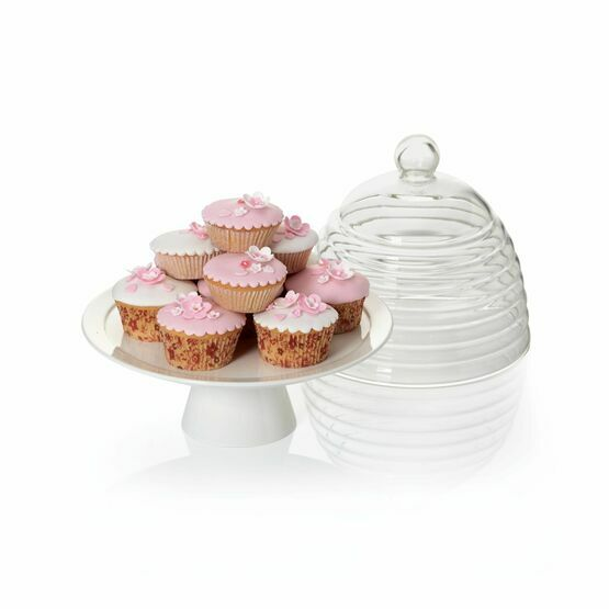 Sweetly Does It Glass Dome Cake Stand