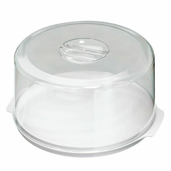Stewart Cake Tray & Cover Round 25cm diameter 14cm high