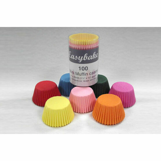 Muffin Cases Mini Multicoloured (100)
