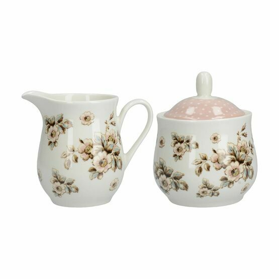 Katie Alice Cottage Flower Sugar And Creamer Set
