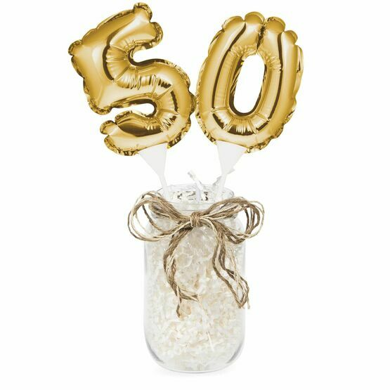 Cake Topper Mini Balloon Gold Numeral
