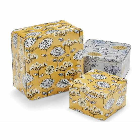 Retro Meadow Set of 3 Square Cake Tins