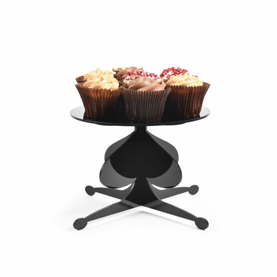 Black Acrylic Pedestal Cake Stand