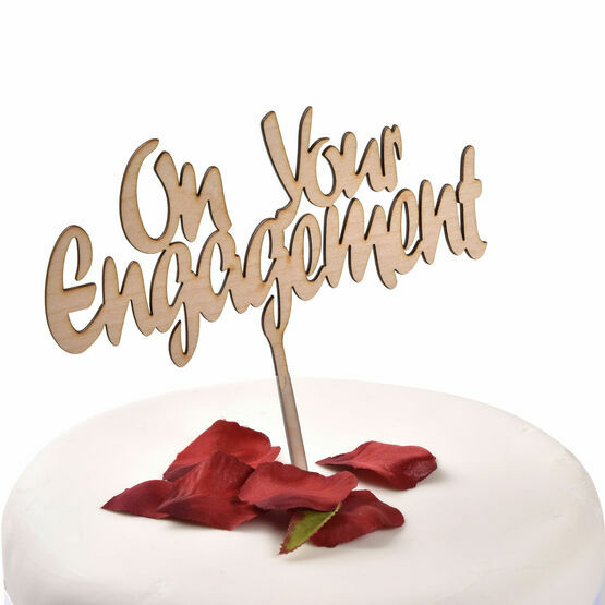 Wooden Cake Topper On Your Engagement